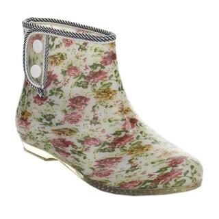 De Bengonia JYL-02 Women's Printed Low Heel Waterproof Ankle High Rain booties