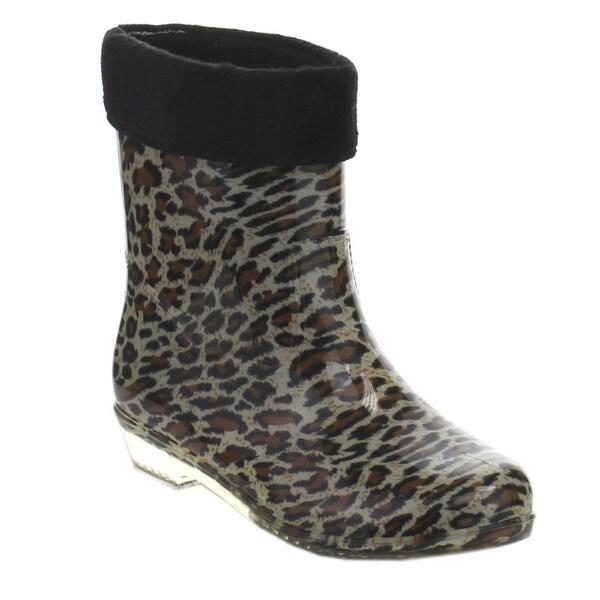 De Bengonia JYL-04 Women's Printed Waterproof Mid-calf Winter Rain Boots