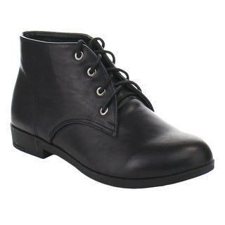 De Bengonia SQB-56 Women's Classic Lace-up Casual Ankle Booties
