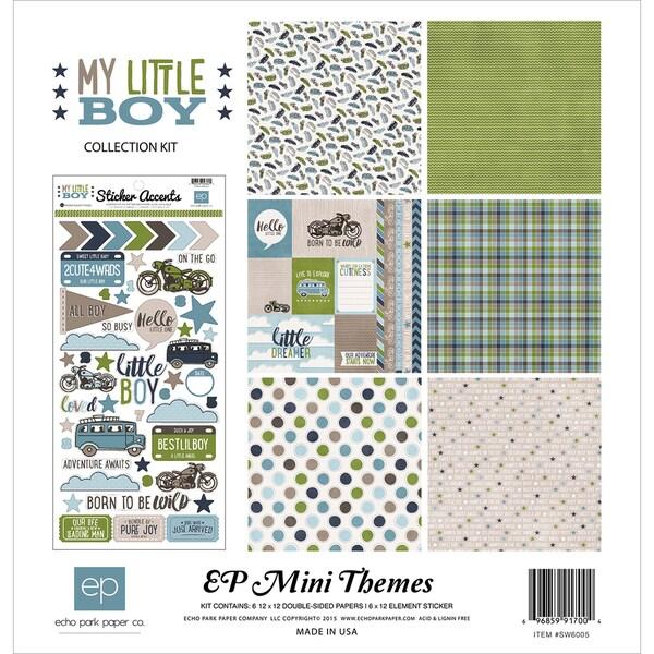 Echo Park Collection Kit 12inX12inMy Little Boy