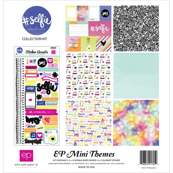 Echo Park Collection Kit 12inX12in#selfie