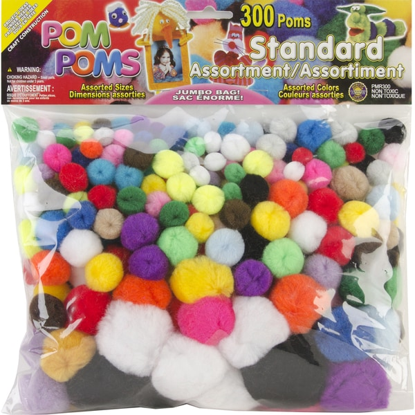 PomPoms Assorted 300/PkgStandard