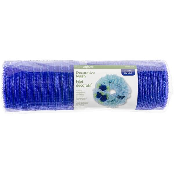 Decorative Mesh 10inX10ydCobalt Blue