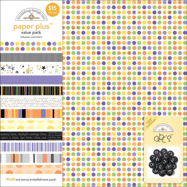 Doodlebug Paper Plus Value Pack 12inX12in 12/PkgHalloween