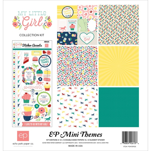 Echo Park Collection Kit 12inX12inMy Little Girl