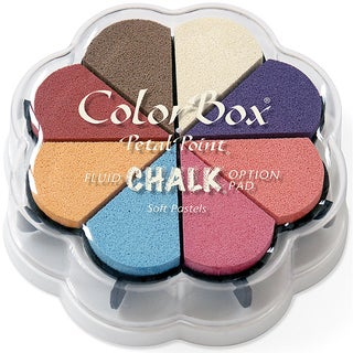 ColorBox Fluid Chalk Petal Point Option Ink Pad 8 ColorsSoft Pastels