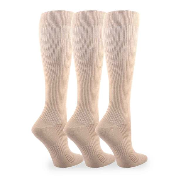 Bamboo Compression Knee High Socks (Pack of 3)