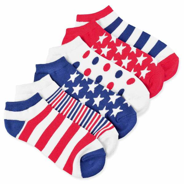 Teehee Unisex I Love Usa American Flag Socks