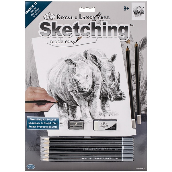 Sketching Made Easy Kit 9inX12inRhino Pair