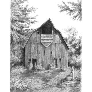 Sketching Made Easy Kit 9inX12inOld Country Barn