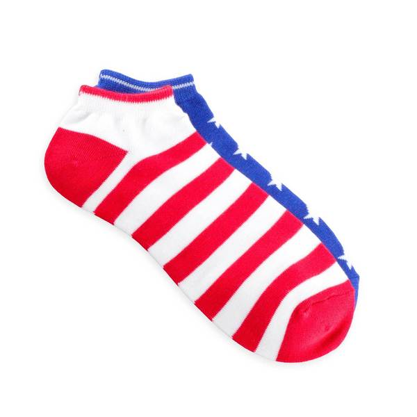 Teehee American Flag Women's Mix Match No Show Socks (Pack of 3)