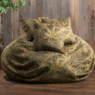 Christopher Knight Home Lillian Faux Suede Weedle Sak Beanbag Chair