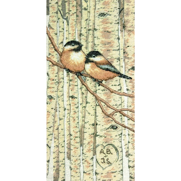 Love Birds Counted Cross Stitch Kit7inX14in 14 Count