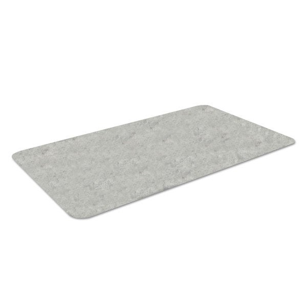 Crown Workers-Delight Slate Standard Light Gray Anti-Fatigue Mat