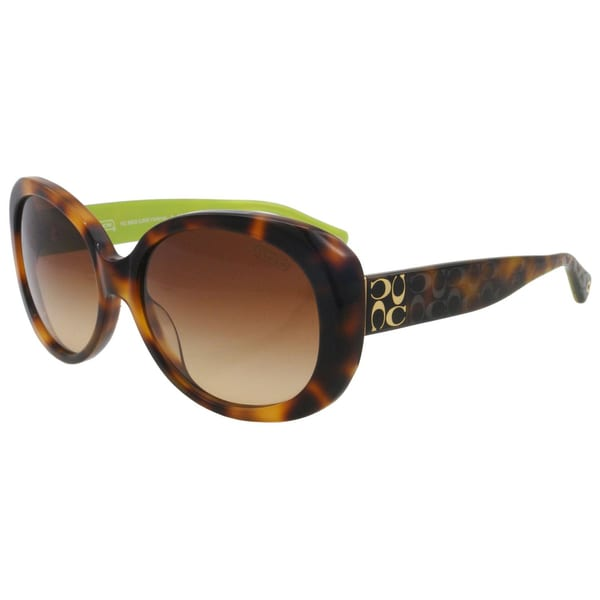 Coach HC8002 L00250521312 Victoria Tortoise And Lime Plastic Sunglasses - 57MM