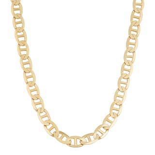 Fremada 14k Yellow Gold 5-mm Solid High Polish Mariner Link Necklace