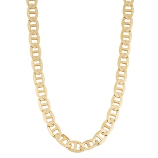 Fremada 14k Yellow Gold 4.35-mm Solid High Polish Mariner Link Necklace