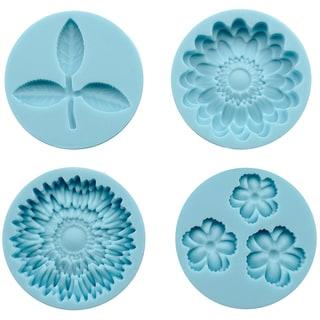 Martha Stewart Crafter's Clay Silicone Molds 4/PkgFlowers & Leaf
