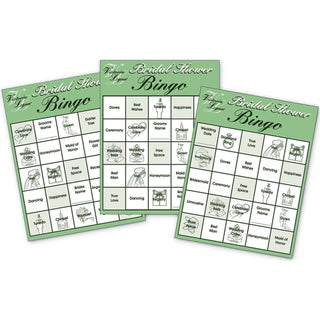 Party Game Cards 24/PkgBridal Shower Bingo