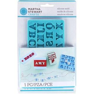 Martha Stewart Crafter's Clay Silicone Mold 1/PkgAlphabet
