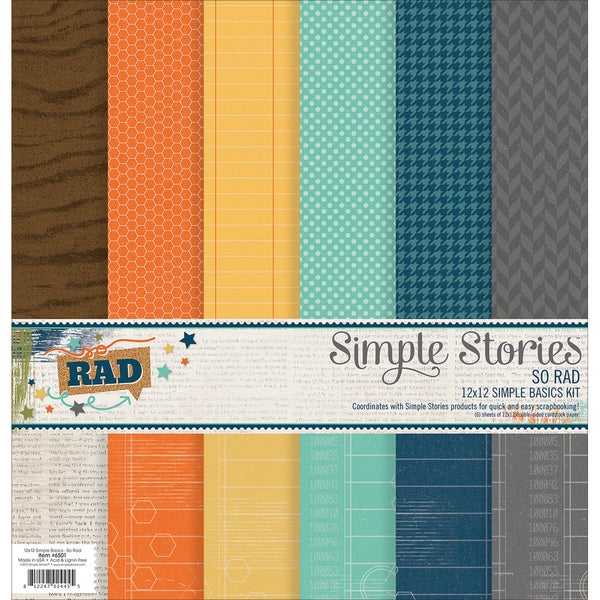 Simple Stories Simple Basics Kit 12inX12in 6/PkgSo Rad