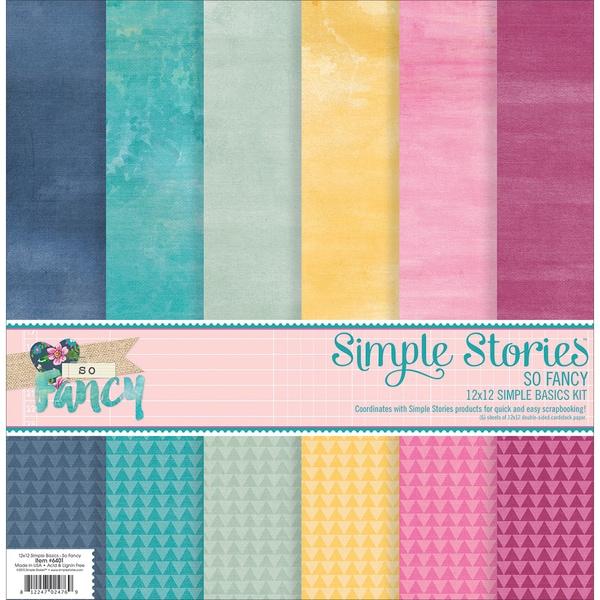 Simple Stories Simple Basics Kit 12inX12in 6/PkgSo Fancy