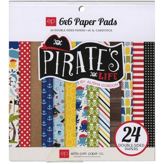 Echo Park DoubleSided Paper Pad 6inX6in 24/PkgPirates' Life