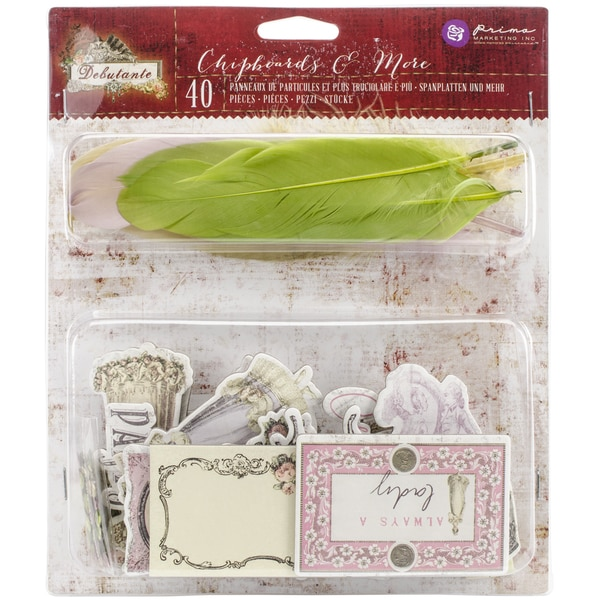 Debutante Chipboard Stickers & More