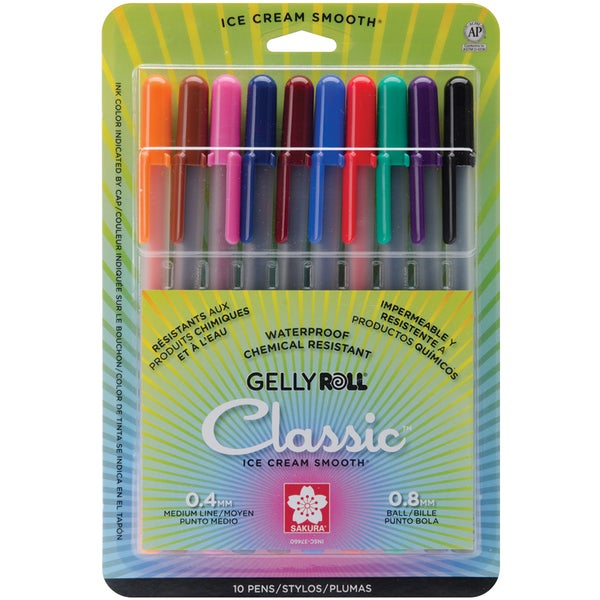 Gelly Roll Medium Point Pens 10/PkgAssorted Colors