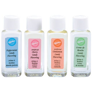Candy Flavorings .25oz 4/PkgPeppermint, Cherry, Cinnamon & Mint