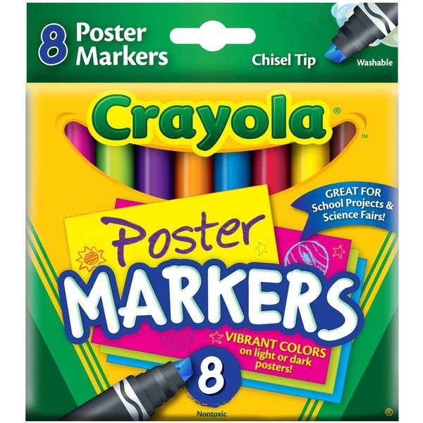 Crayola Poster Chisel Tip Markers8/Pkg 16250477