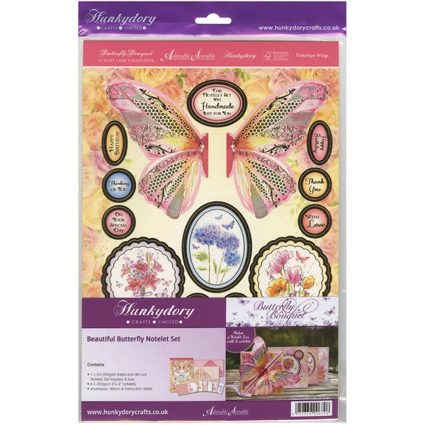 Butterfly Bouquet A4 Card KitBeautiful Butterfly Notelet