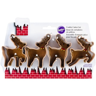 Metal Cookie Cutter Set 4/PkgReindeer