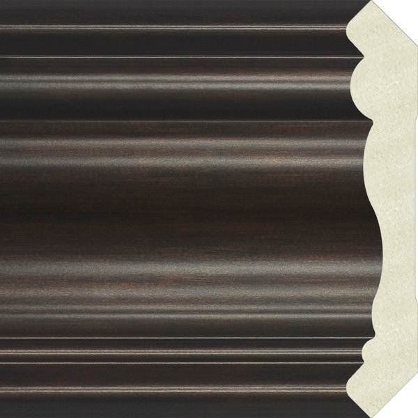 Upscale Designs 72-inch Polystyrene Brown Crown Moulding (10 panels)