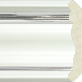 Upscale Designs 72-inch Polystyrene White with Silver Crown Moulding (10 panels)