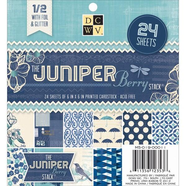 Paper Stack 6inX6in 24/PkgJuniper Berry