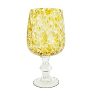 Speckled Golden Goblet Pedestal Vase