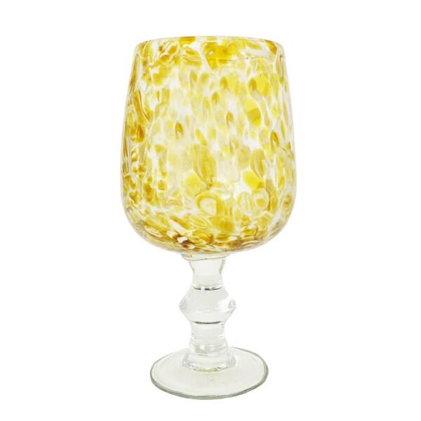 Speckled Golden Goblet Pedestal Vase 16252323