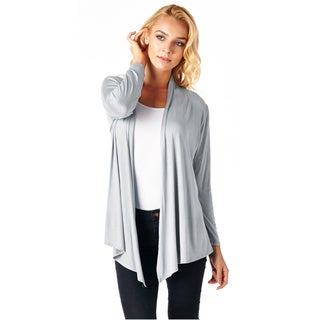 Popana Super-Soft Open Front Drape Cardigan