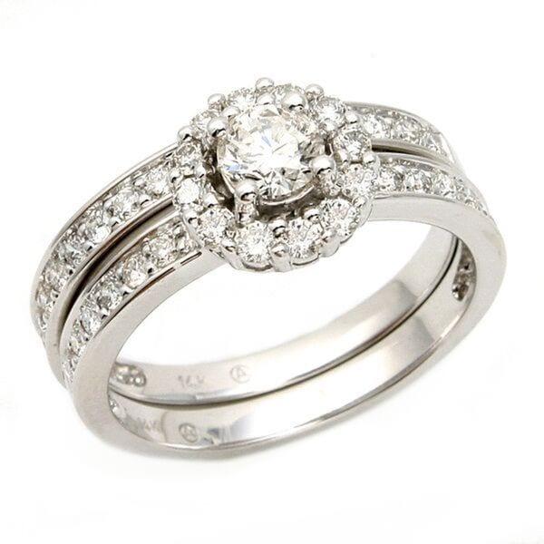 2 PIECE DIAMOND WEDDING SET14K WHITE GOLD