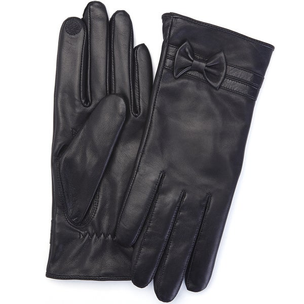 Royce Leather Premium Lambskin Leather Cellphone Tablet Touchscreen Gloves, Women's Large, Black