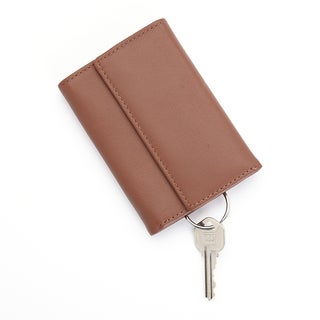 Royce Leather Trifold Key Case Organizer Wallet in Genuine Leather