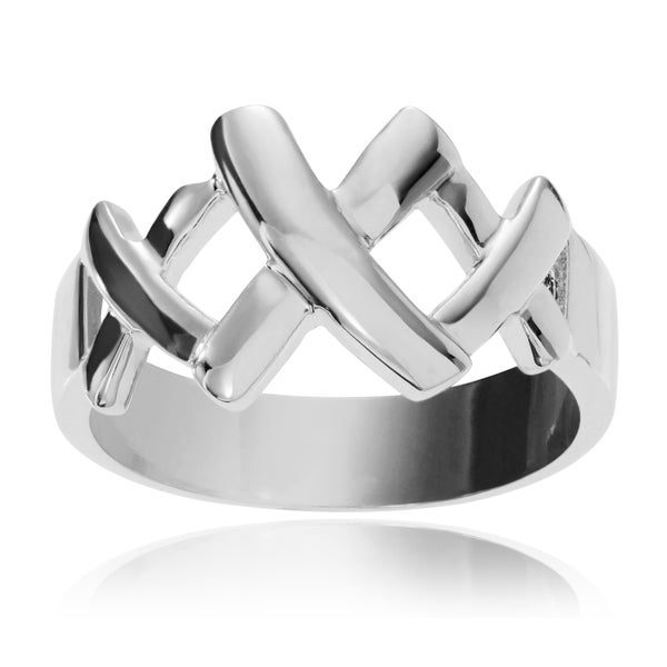 Journee Collection Sterling Silver 'XXX' Ring
