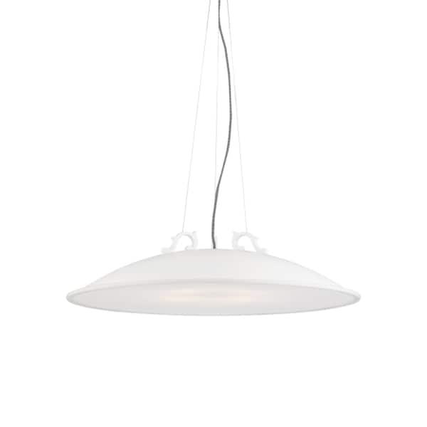 LBL Malka Bowl 1 light Rubberized White LED Pendant