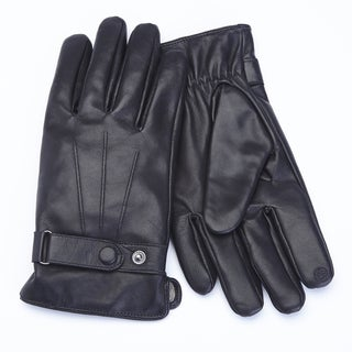 Royce Leather Premium Lambskin Leather Cellphone Tablet Touchscreen Gloves, Men's Large, Black