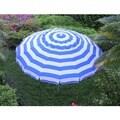 8 ft Royal Blue and White Stripe Deluxe Beach/Patio Umbrella