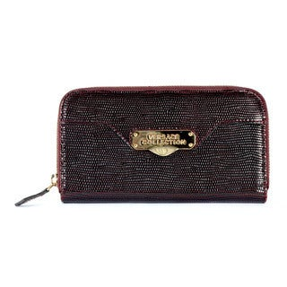 Versace Collection Women's Leather Logo Hardware Wallet