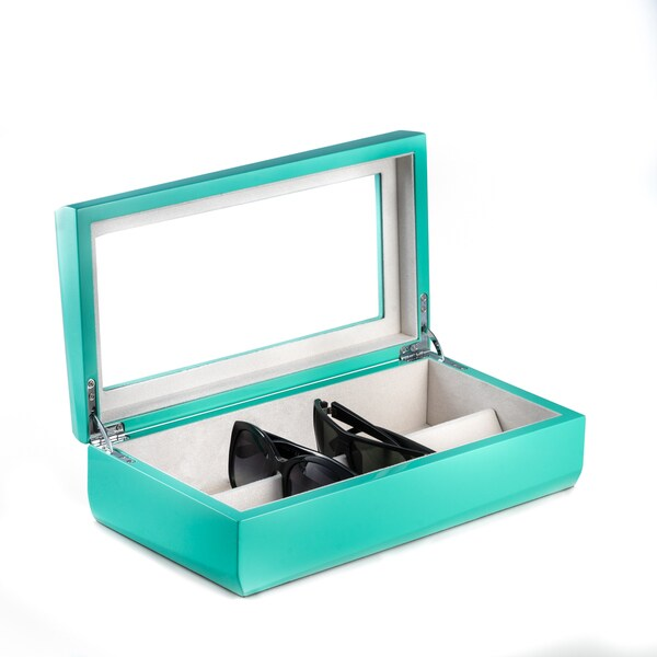 Bey Berk Glasses Turquoise Storage Case