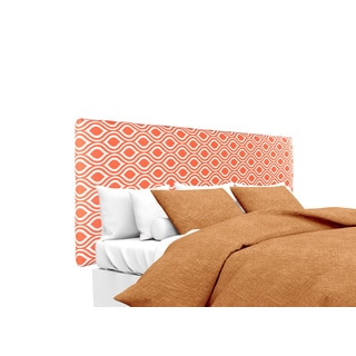 MJL Furniture Alice Nicole Tabby-Orange Designer Upholstered Headboard