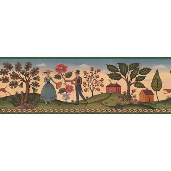 Green Hopewell County Wallpaper Border